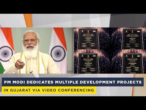 PM Modi dedicates multiple development projects in Gujarat via video conferencing