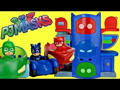 PJ MASKS Headquarters HQ Playset With Owlette, Catboy & Gekko! Mp3