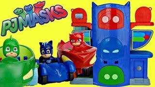 PJ MASKS Headquarters HQ Playset, Owlette, Catboy, Gekko Mobile, Car, Superhero in Real Life IRL