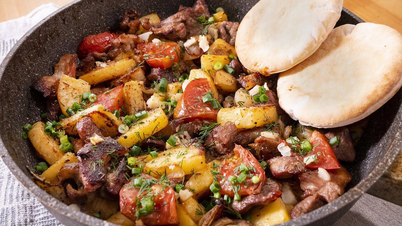 Жаркое по-домашнему. Семья будет довольна. Мясо с картошкой. Идея для ужина.