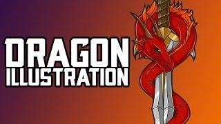 Dragon Illustration! SpeedArt/Tutorial