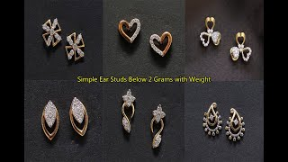 Beautiful Diamond Ear Studs Designs In Below 2 Grams || Latest Diamond Earrings || Shridhi Vlog