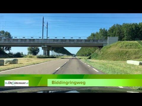 Biddingringweg bij Dronten in juni vier weken dicht voor het verkeer