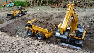 Rc Construction Models Building A Dam | Cars Trucks 4 Fun
