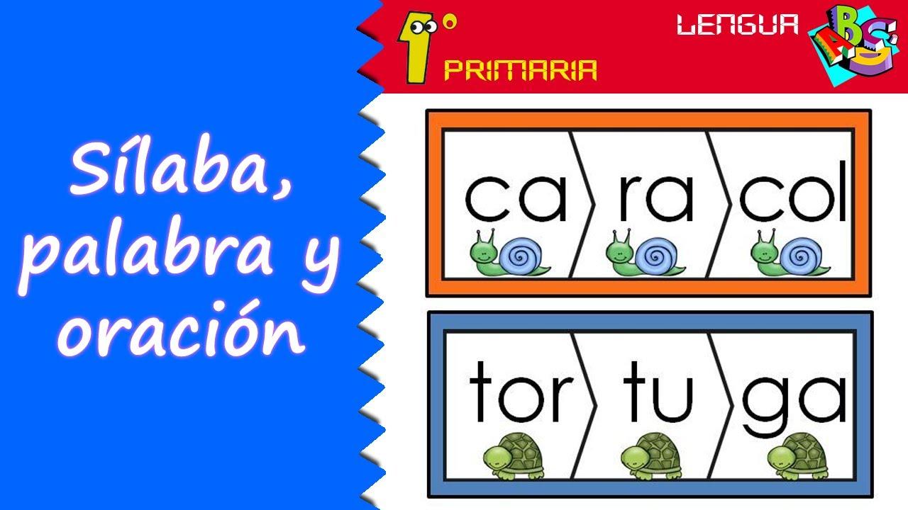 Lengua Castellana. 1º Primaria. Tema 9: Sílaba, palabra y oración