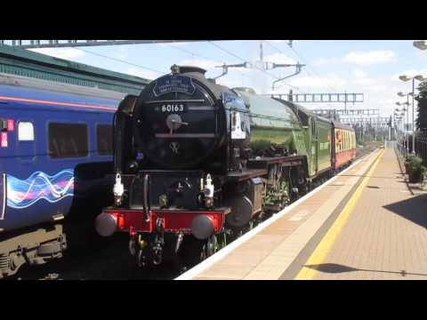 LNER A1 60163 'Tornado' passes Didcot with support coach 6th…