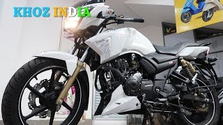 2019 tvs apache rtr 180 launched in india priced at rs- 84