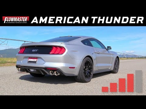 2018-19 Mustang GT 5.0L - American Thunder Wireless Active Valve Exhaust 817859