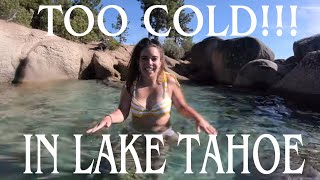 ITS TOO COLD IN LAKE TAHOE TO SWM IN JULY!!!