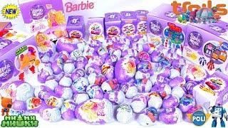 88 ШОКОЛАДНЫХ ЯИЦ 88 Kinder Surprise eggs МИМИМИШКИ Робокар Поли, БАРБИ ТРОЛИ,ХОТ ВИЛС РАСПАКОВКА