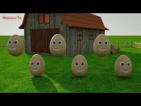 Учим цвета-Разноцветные яйца на ферме