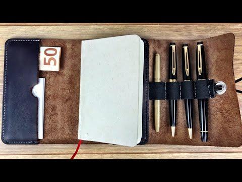 Elegantes Notizbuch aus Leder! -