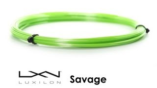 Luxilon Savage Black String 12m video