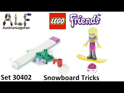 Vidéo LEGO Friends 30402 : Snowboard Tricks (Polybag)