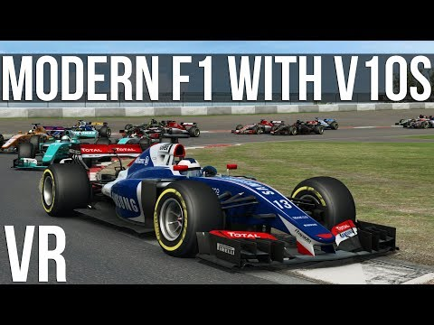 What If Modern F1 Cars Had V10 Engines?