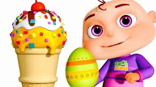 Five Little Babies Opening Surprise Eggs   Ice Cream Candies For Kids   Zool Babies