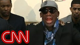 Dennis Rodman lashes out at CNN