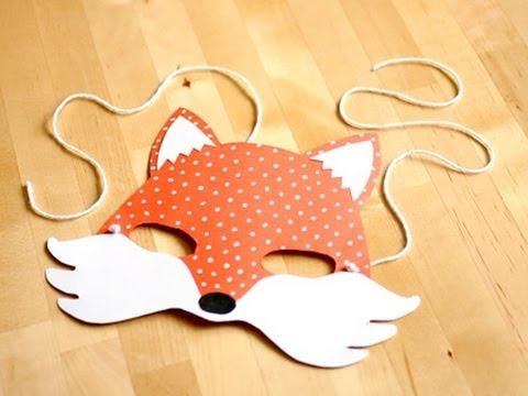 Disfraz casero: máscara de zorro