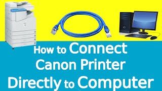 How to Connect Canon Copier Printer IR3300 or Xerox Machine Directly to PC Computer Laptop using LAN