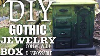 DIY Ombré Jewellery Box UNDER £10 GOTHIC DIY - THE RECREATION   Radically Dark  