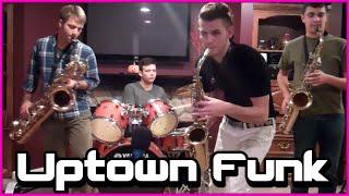 Uptown Funk  |  Alto, Tenor, and Bari Sax Cover (Plus Nick)