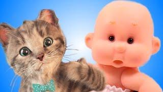 МОЙ Маленький КОТЕНОК и ПУПС Виртуальный питомец СИМУЛЯТОР котика Как мультик видео для детей СПТВ