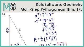 KutaSoftware: Geometry- Mulit-Step Pythagorean Theorem Problems Part 1