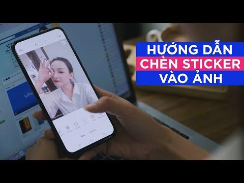 Hướng dẫn cách chèn sticker vào ảnh trên điện thoại vivo