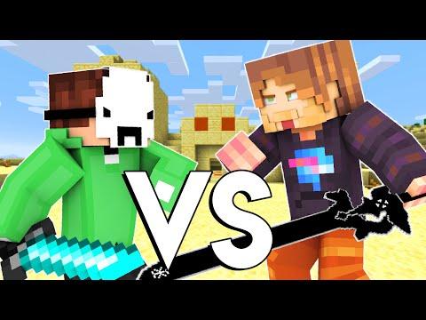 Dream VS MrBeast - Minecraft FIGHT Animation