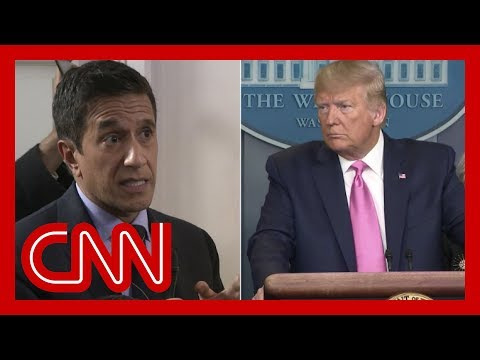 Trump clueless about COVID-19 interrupts Dr. Gupta during presser