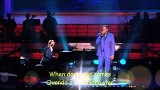 BRIDGE OVER TROUBLED WATER, Brian McKnight & Josh Groban