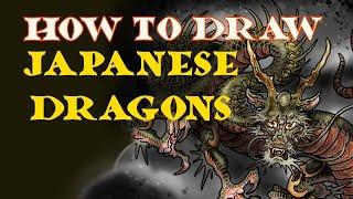 Japanese Dragon Drawing Tutorial