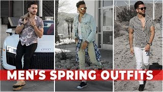 3 EASY SPRING OUTFITS FOR MEN 2018 | Mens Festival Fashion & Style Lookbook | Alex Costa