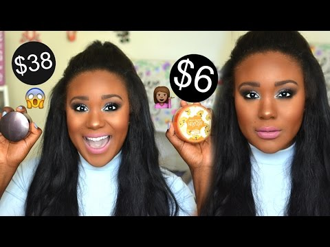 BEST DUPE EVER!! $6 Drugstore Powder v.s Laura Mercier Powder WEAR TEST Review