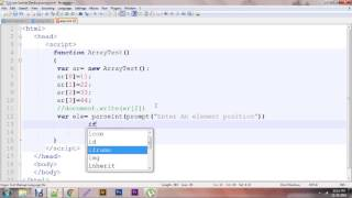 Javascript - Create Simple Dynamic Array | Run time array function Tutorial video