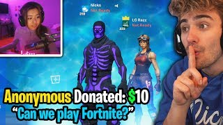 I Anonymously DONATED to SMALL STREAMERS to see if they'd play Fortnite with me... (SHOCKING)