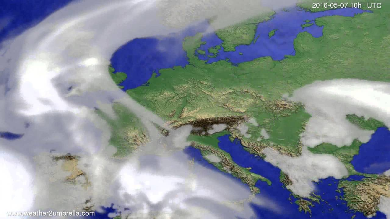 Cloud forecast Europe 2016-05-05