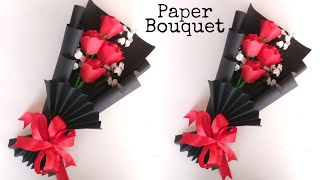 Flower Bouquet Making With Paper | Flower Bouquet Wrapping | DIY | Paper Craft