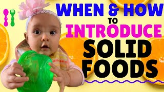 Feeding Babies Solid Food & WHEN TO INTRODUCE SOLIDS TO BABY (Cutting Foods & Baby Weaning)
