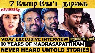 Amy Heroine-னு தெரிஞ்சதும் Arya இப்படி React பண்ணாரு - Vijay Breaks Madrasapattinam Unheard Stories!