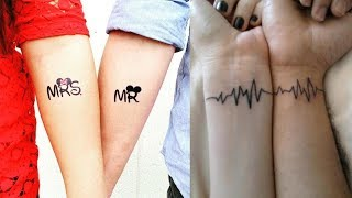 Best Couple Tattoos Designs - Matching Tattoos For Married Couples - Tattoo Ideas