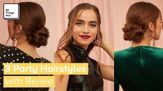 3 Quick & Easy Party Hairstyles