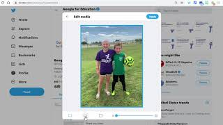 How to adjust/crop pictures you post in Twitter.