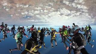 360 VR Skydiving 107 Way California Freefly Record Attempt 4