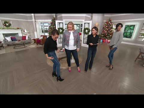 Laurie Felt Silky Denim Tuxedo-Stitch Skinny Pull-On Jeans on QVC