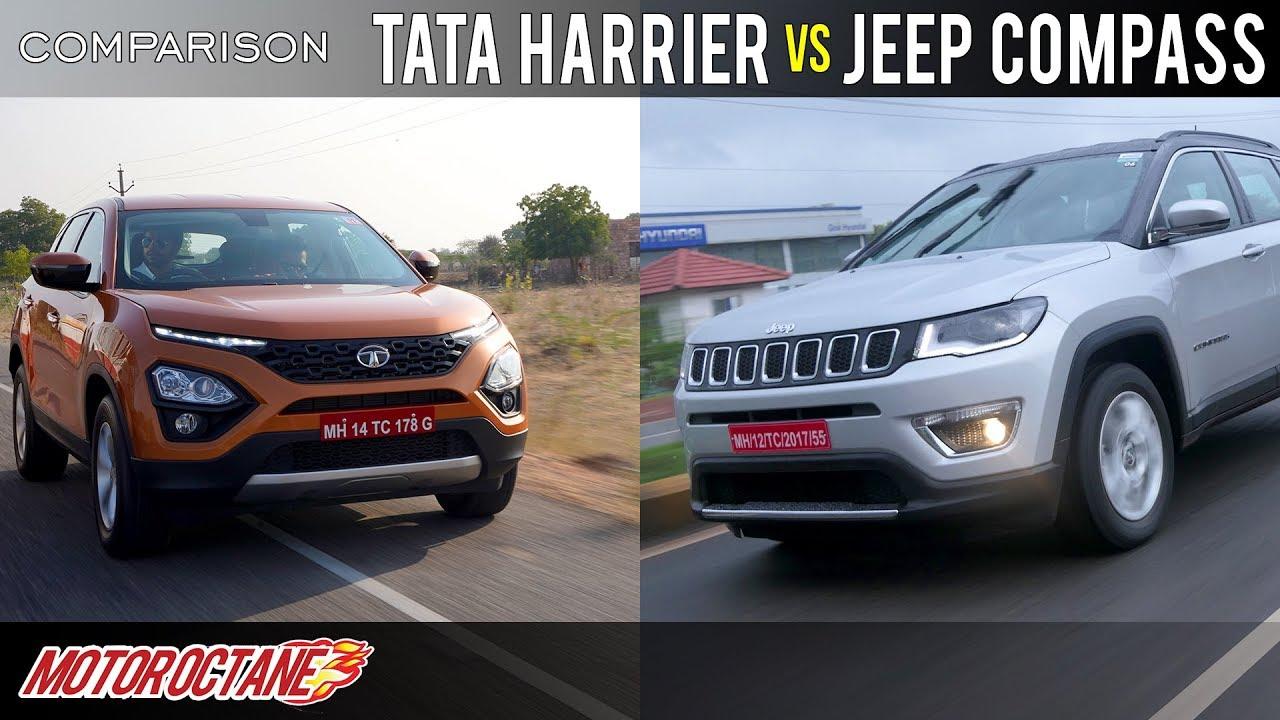 Motoroctane Youtube Video - Tata Harrier vs Jeep Compass Comparison | Hindi | MotorOctane