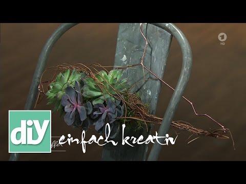 Kleiderbügel mit Sukkulenten | DIY einfach kreativ