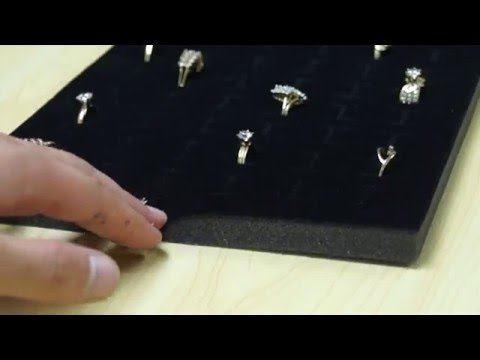 Foam Ring Display Tray Insert for Jewelry Showcases & Countertops