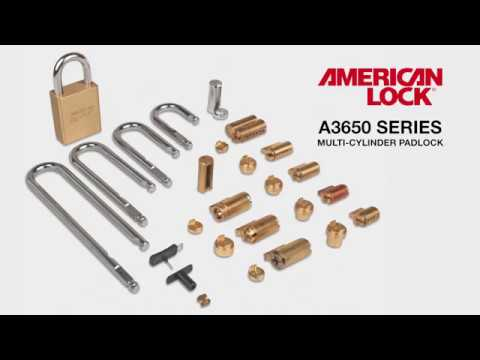 American Lock A3650 Series Quick-Change Shackle Feature