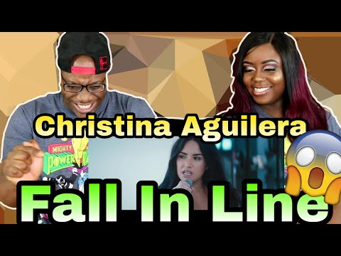 Christina Aguilera - Fall In Line ft. Demi Lovato   Couple Reacts